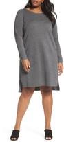 Eileen Fisher Plus Size Women's Merino Wool Sweater Dress