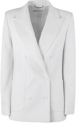 Alberta Ferretti White Wool Tailored Jacket