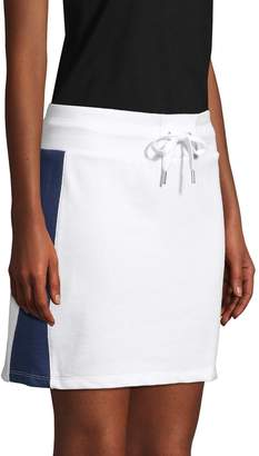 Tommy Hilfiger Striped Cotton Blend Skirt