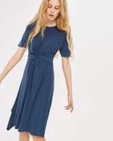 Topshop Drape Front Midi Dress