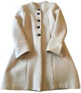Krizia White Wool Coat for Women