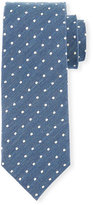 Tom Ford Small-Dot Textured Silk Tie, Blue
