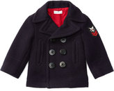 Ralph Lauren Melton Double-Breasted Naval Peacoat, Blue, Size 9-24 Months
