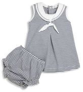 Kissy Kissy Baby's Seven Seas Two-Piece Cotton Stripe Dress & Diaper Cover Set