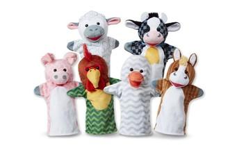 Melissa & Doug Barn Buddies Hand Puppet 6-Pack