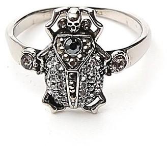 Alexander McQueen Skull Gemstone Ring