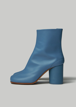 Maison Margiela Women's Tabi Boot in Blue Turquoise Size 36 Leather