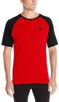 U.S. Polo Assn. Men's Color Block Raglan Feel Dry Performance T-Shirt