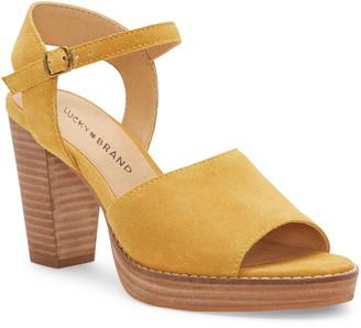 Lucky Brand Naika Ankle Strap Platform Sandal