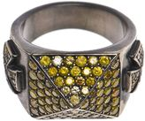 Loree Rodkin Maltese crosses pavé pyramid ring