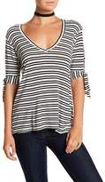 C&C California Karianne Striped V-Neck Tee
