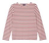 Saint-James 'Minquiers Moderne' stripe unisex long sleeve T-shirt