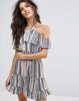 Vero Moda Printed Bardot Sun Dress