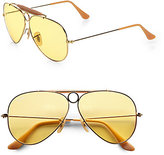 Ray-Ban Ambermatic Shooter Aviator Sunglasses