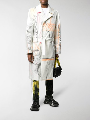Off-White Futura trench coat