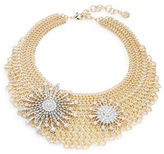 RJ Graziano Chainlink Mesh Star Accented Bib Necklace