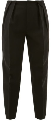 Bottega Veneta High-rise Wool Twill Trousers - Black