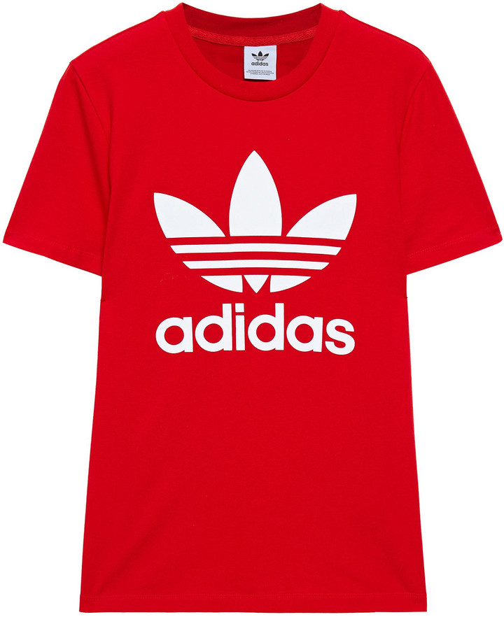 adidas Logo-print Stretch-cotton Jersey T-shirt