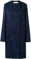 Marni collarless buttoned coat - women - Cotton/Linen/Flax/Acetate/Viscose - 44