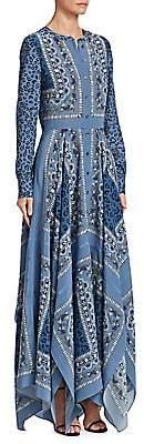 Altuzarra Women's Tamourine Printed Silk Maxi Dress