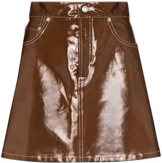 Simon Miller Minami glossed-effect mini skirt
