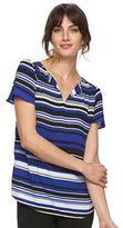 Elle Women's ELLETM Chiffon High-Low Hem Top