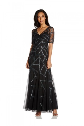 Adrianna Papell Beaded Covered Gown