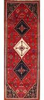 """3.1 Phillip Lim One-of-a-Kind Taunton Vintage Abadeh Shiraz Persian Classical Hand-Knotted Runner 3'1"""" x 9'7"""" Wool Red/Blue Area Rug Isabelline"""
