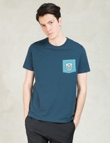 Poler Blue Draplin Patches Pocket T-Shirt