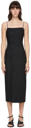 MATÉRIEL Black Fitted Mid-Length Dress