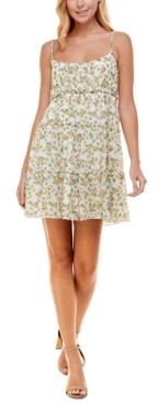 Trixxi Juniors' Emma Floral-Print Fit & Flare Dress