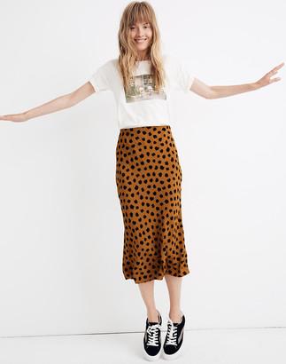 Madewell Midi Slip Skirt in Painted Spots
