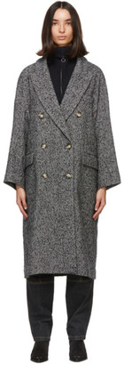 Etoile Isabel Marant Black and White Ojima Coat