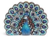 Judith Leiber 'Peakaboo Peacock' crystal pavé minaudière