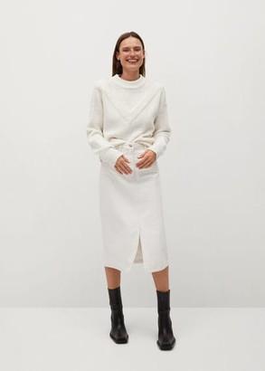 MANGO Denim cotton skirt