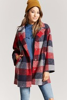Forever 21 Buffalo Plaid Snap-Button Coat