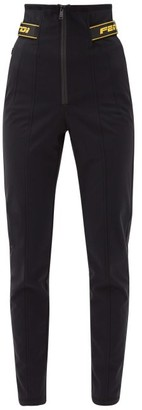 Fendi High-rise Soft-shell Slim-leg Ski Trousers - Black