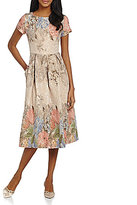 Adrianna Papell Beaded Floral Print Dress