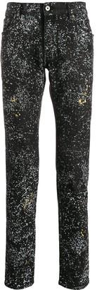 Just Cavalli Slim-Fit Paint Splatter Effect Jeans