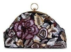 Jessica McClintock Floral Sequin Convertible Clutch