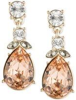 Givenchy Goldtone Multi-Crystal Pear Drop Earrings