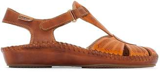 PIKOLINOS P. Vallarta 655 Leather Wedge Sandals