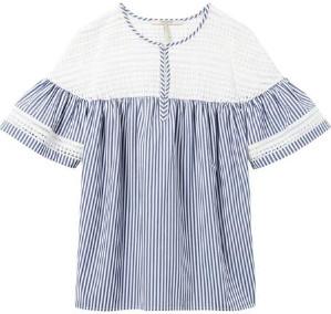 Maison Scotch Striped Short Sleeve Top - M / Combo S - Blue/White