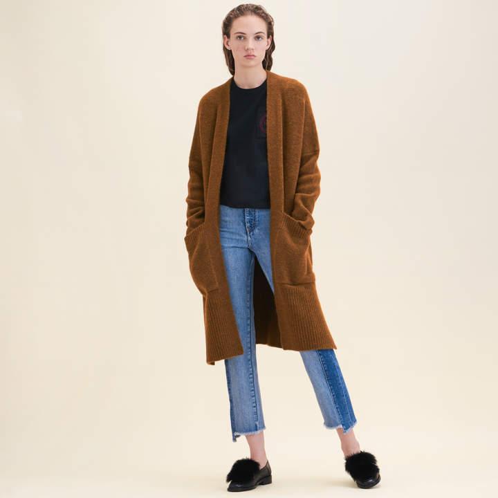 Maje Long oversized cardigan