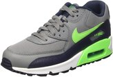 Nike Youths Air Max 90 Mesh Grey Leather Trainers 37.5 EU