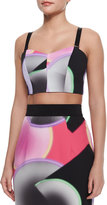 Milly Glow-Print Bustier Top