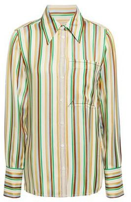 3.1 Phillip Lim Grosgrain-trimmed Striped Satin Shirt