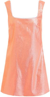 Area Open-back Crystal-embellished Metallic Twill Mini Dress