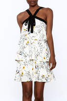 Entro Floral Tiered Dress
