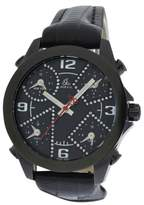 Jacob & co Five 5 Time Zone JC-M2BCDA Stainless Steel / Leather 40mm Mens Watch